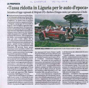 Tassa ridotta in Liguria per le auto d'epoca
