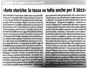 articolo su giornale